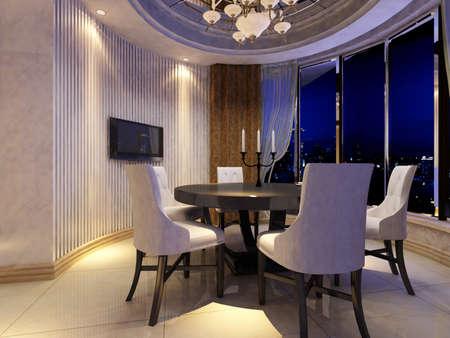 Modern design interior of living-room. render Stock Photo - 9713077