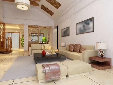 Modern design interior of living-room. render Stock Photo - 9713076
