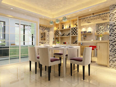 Modern design interior of living-room. render Stock Photo - 9713103