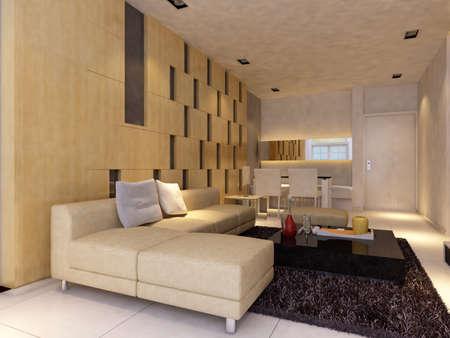 Modern design interior of living-room. render Stock Photo - 9713079