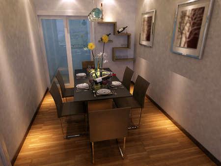 Modern design interior of living-room. render Stock Photo - 9713073