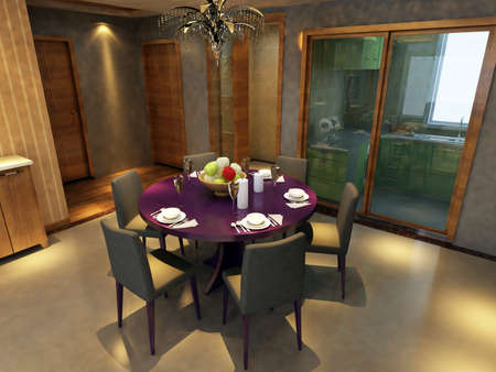 Modern design interior of living-room. render Stock Photo - 9713075