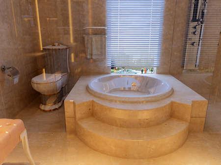 rendering of the modern bathroom interior Stock Photo - 9713179