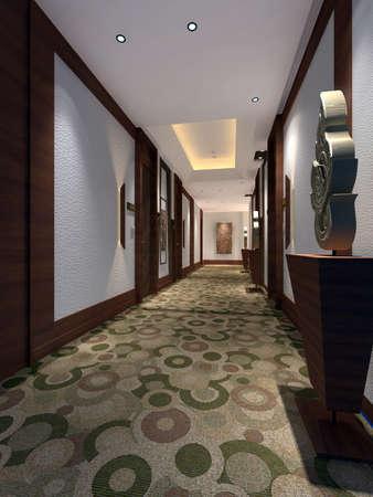 couloirs: Int�rieur rendu � la mode de salon  Banque d'images