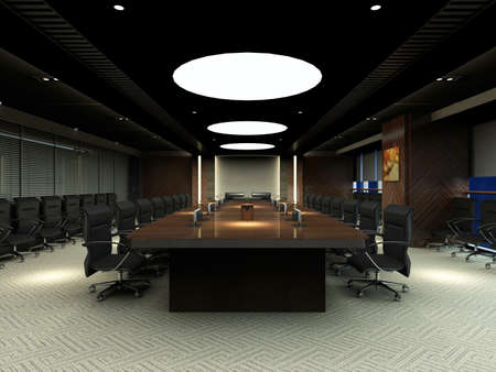 the computer generated image of the modern conference hall Stock Photo - 9821243