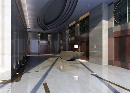hotel hall rendering  photo