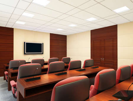 the computer generated image of the modern conference hall Stock Photo - 9821236