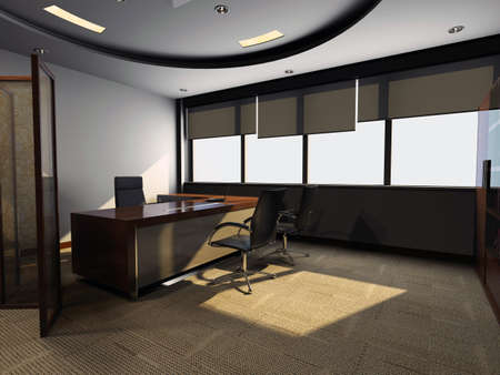 modern office interior 3d rendering  Stock Photo - 9821262