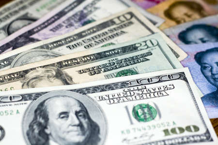 rmb: US dollar vs Chinese RMB - tug-of-war of currency depreciation and appreciation
