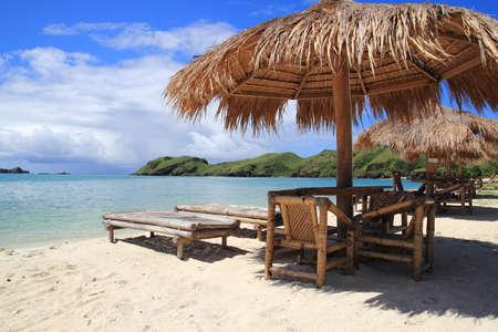 pavillion: Beach rest pavillion in islands, Indonesia Stock Photo