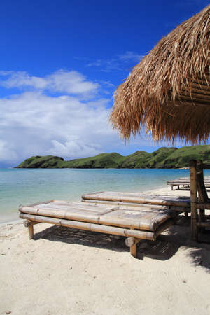 beach hut: Beach rest pavillion in islands, Indonesia Stock Photo