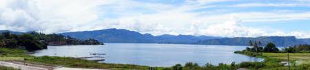 Panorama of Lake toba                               photo