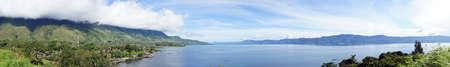 Panorama of Lake toba                              Stock Photo