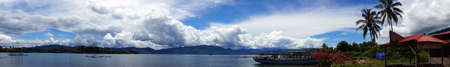 sumatra: Panorama of Lake toba                              Stock Photo