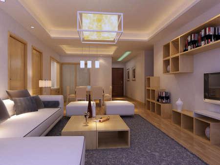 livingroom: 3d rendering of home interior.