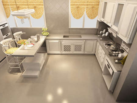vizualisation: Interior of a kitchen