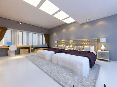residential structure: rendering bed room