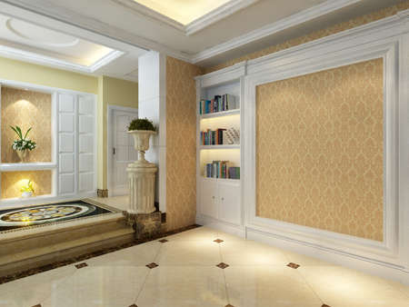 rendering: rendering empty lobby interior.