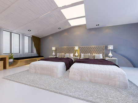 residential structure: rendering bed room,so comfortable.
