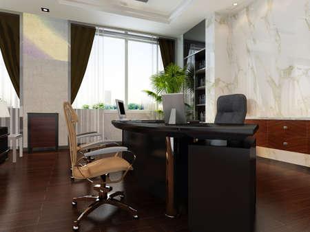 hotel rooms: modern office interior 3d rendering