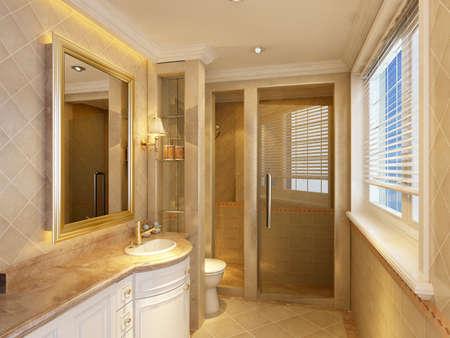 bidet: 3d rendering of a Bathroom interior.