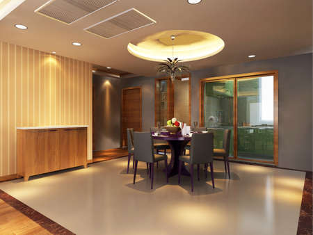 rendering: 3d rendering of home interior.