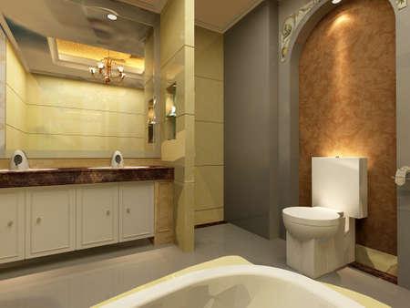 rendering: 3d rendering of a Bathroom interior.