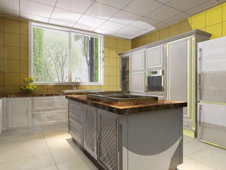 rendering kitchen room