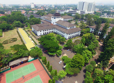 Gedung Sate aerial landscape