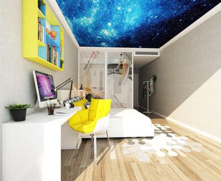 3D rendering children's room