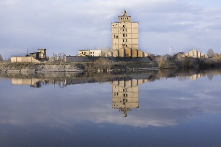 abandoned factory: Abandoned place but great river scenery
