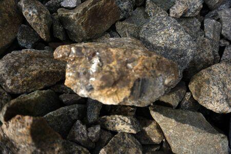 Stone texture, Crushed stone, ballast Imagens