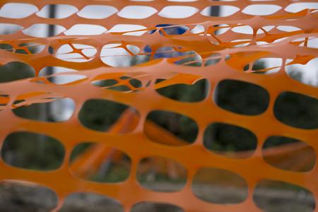Fragment van het net op de bouwplaats Stockfoto