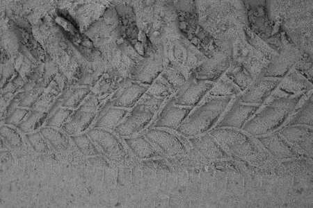 traction: Tire prints on sand