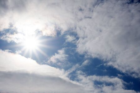 Sun and clouds day Stock Photo