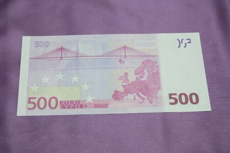 500 Euro notes background texture Stock Photo