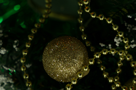 Christmas beads as a background or texture