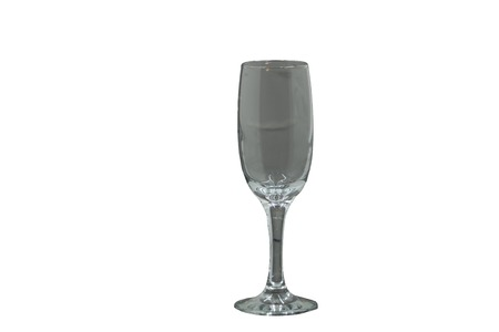 a glass of champagne on isolated background.
