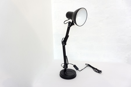 Table black lamp on a white background Stock Photo