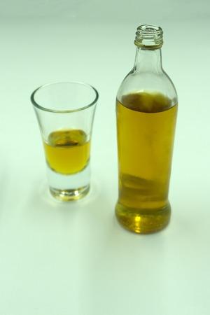 slightly gap-filling bottle of cognac
