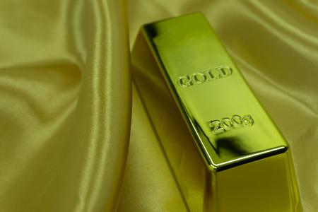 Gold ingot on the surface