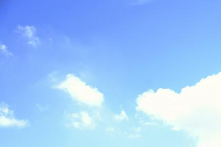 A few clouds in a blue sky