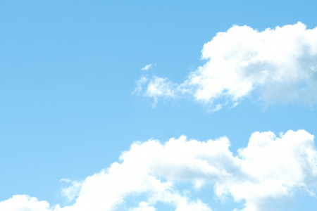 Blue sky with lots of white clouds . Stock Photo