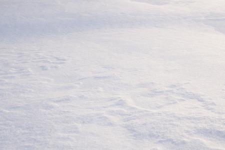 Closeup of snow piled up.