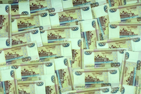 500 rubles russian currency sky lines macro