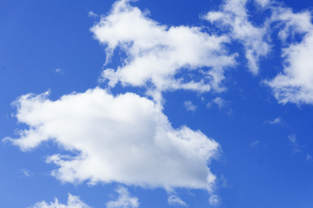 blue sky clouds clean copy climate Stock Photo