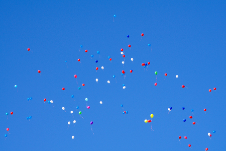 Flying Balloons in mid-air