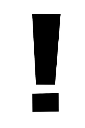 Exclamation point on white background