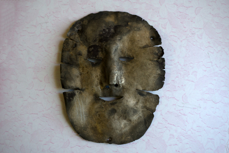 Metal mask of silver