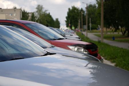 Cars For Sale Stock Lot Row bonnet